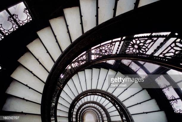 Stairway at the Rookery in Chicago in 2003