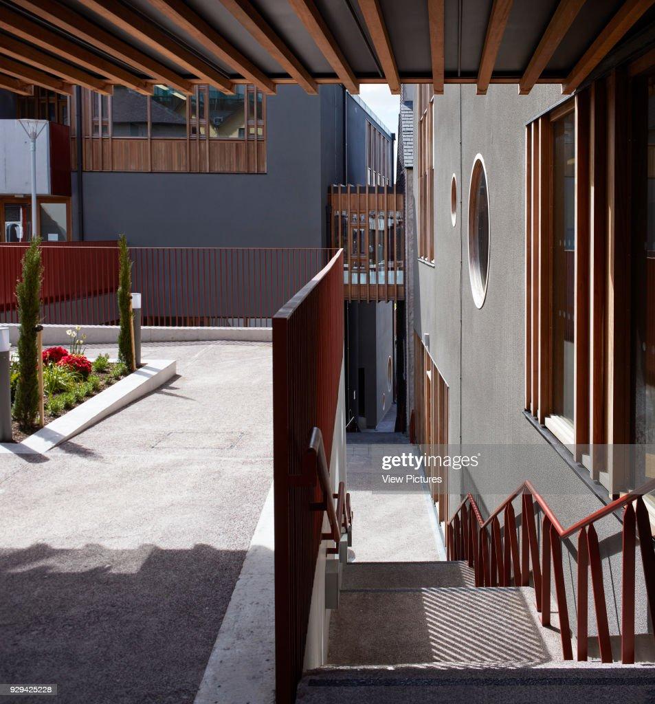 stairway connecting the steep site levels st angelas college cork cork ireland