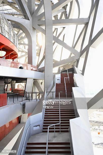 stairway in beijing national stadium - stadio olimpico nazionale foto e immagini stock