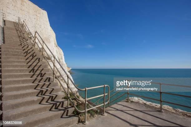Stairway in chalk cliffs at Peacehaven