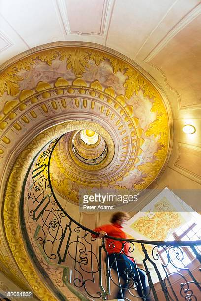 Stairway in the Abbey, Melk Abbey, The Wachau