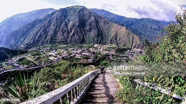 Stairway in the Andes Mountains