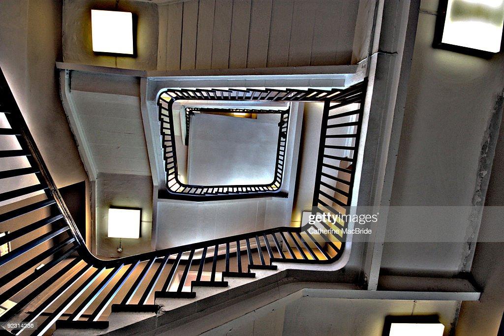 Stairway looking upwards : Foto de stock