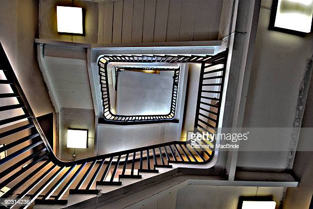 stairway looking upwards - catherine macbride stock-fotos und bilder