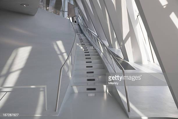 stairway modern architecture - bauhaus art movement stock pictures, royalty-free photos & images