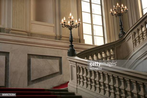 Stairway Nobile first floor Palazzo Reale Milan Lombardy Italy