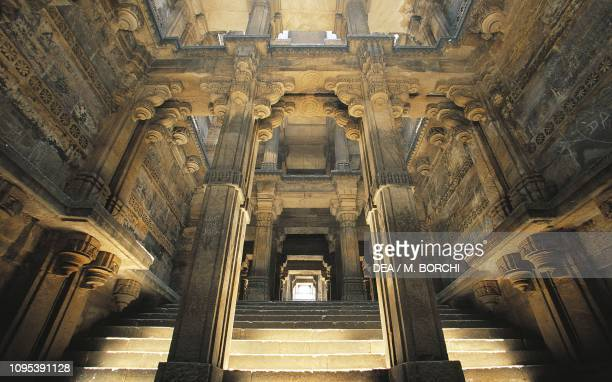 Stairway to Dada Hari Baoli stepwell Ahmedabad Gujarat India 15th century