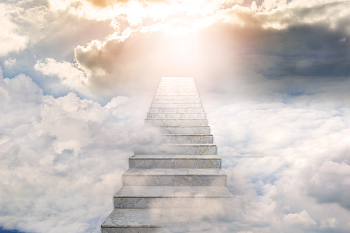 Stairway to heaven. Concept Religion background 1144260654