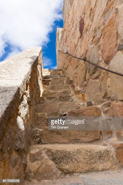 Stairway to heaven old stone steps in Avila Spain