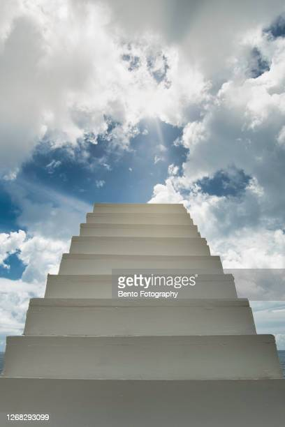stairway to heaven - staircase stock pictures, royalty-free photos & images