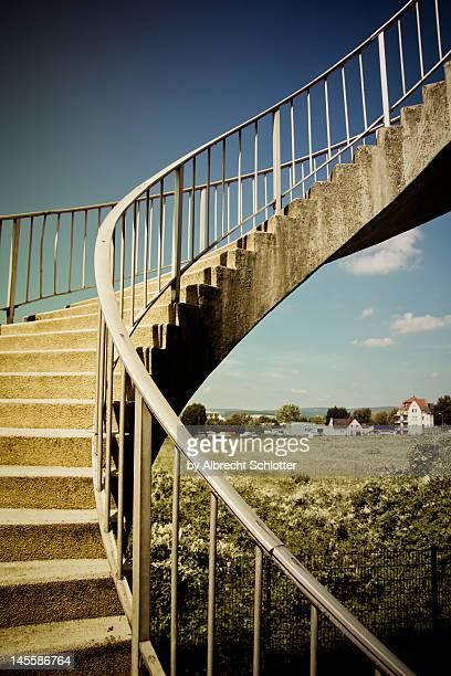stairway to heaven - albrecht schlotter stock photos and pictures