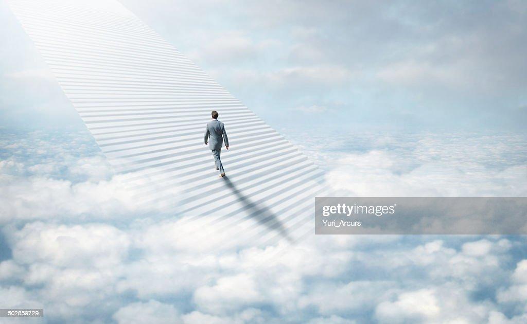 Stairway to heaven : Stock Photo
