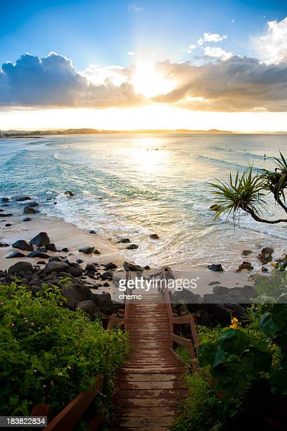 stairway to paradise - queensland stock pictures, royalty-free photos & images