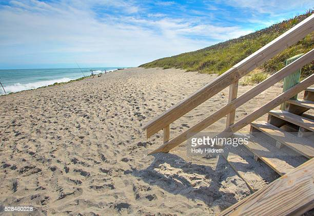 stairway to the beach - jupiter florida stock pictures, royalty-free photos & images