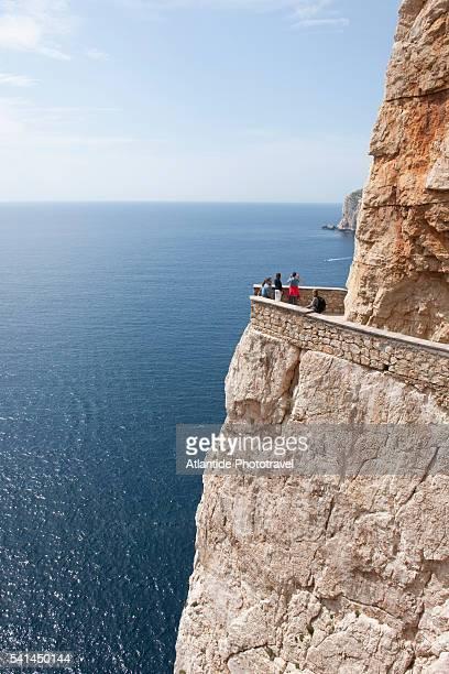 Stairway to the Grotte di Nettuno, near Capo Caccia