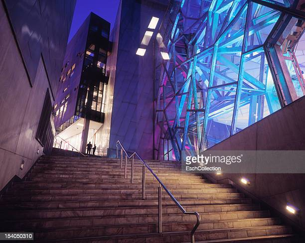 Stairway towards Federation Square in Melbourne