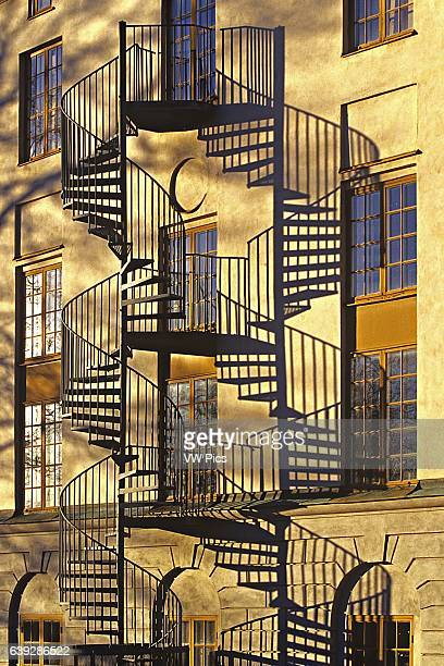 Stairway with Shadows Modern Art Museum Skeppsholmen Stockholm Sweden