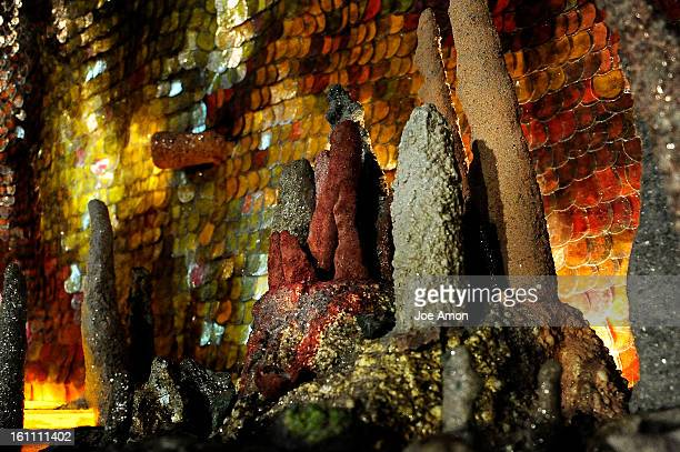 Stalactmite and stalactites made from molds of cypress knees and sprinkled with different minerals and in some cases coral join with 60,000 hand-made...