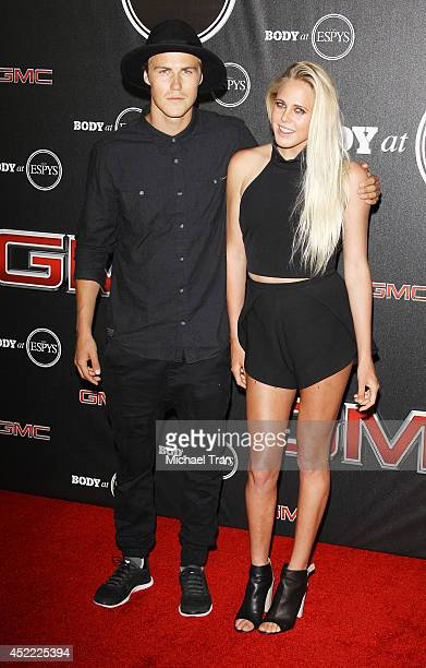 Stale Sandbech and surfer Laura Enever arrive at the BODY at ESPYS PreParty held at Lure on July 15 2014 in Hollywood California