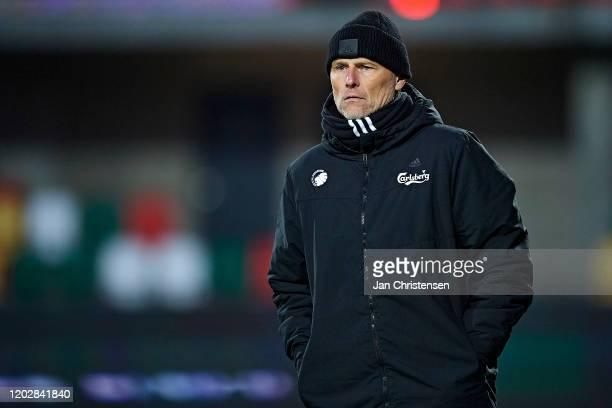 Stale Solbakken, head coach of FC Copenhagen looks on during the Danish 3F Superliga match between Silkeborg IF and FC Copenhagen at JYSK Park on...