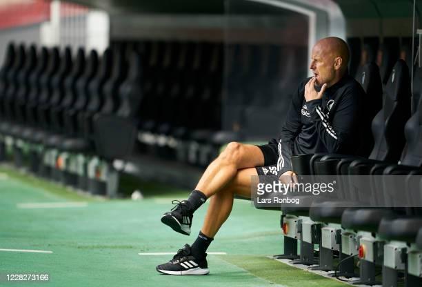 Stale Solbakken, head coach of FC Copenhagen on the bench prior to the pre-season friendly match between FC Copenhagen and Silkeborg IF at Telia...