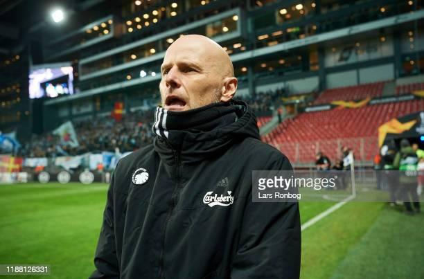 Stale Solbakken, head coach of FC Copenhagen prior to the UEFA Europa League match between FC Copenhagen and Malmo FF at Telia Parken on December 12,...