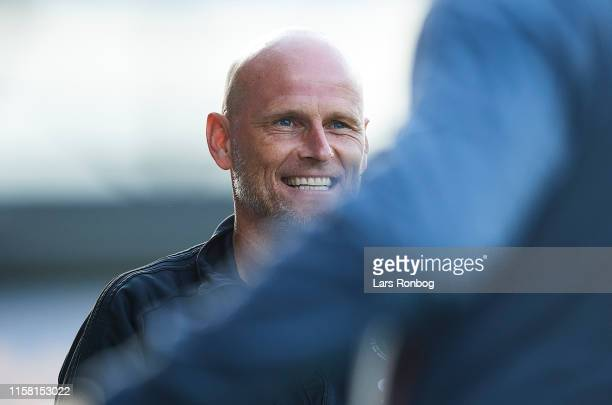 Stale Solbakken, head coach of FC Copenhagen smiles during the Danish 3F Superliga match between AC Horsens and FC Copenhagen at CASA Arena on July...