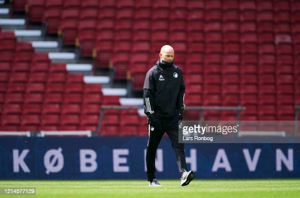 Stale Solbakken, head coach of FC Copenhagen walking on the pitch prior to the friendly match between FC Copenhagen and OB Odense at Telia Parken on...