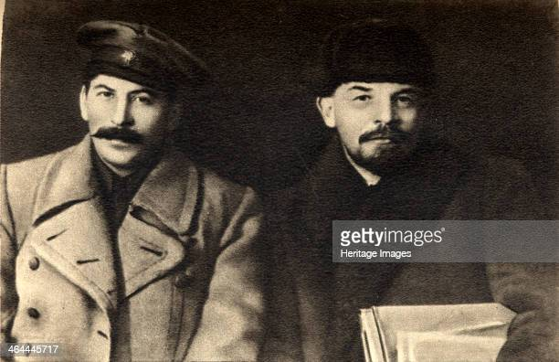 Stalin and Lenin Russian Bolshevik revolutionary leaders Moscow Russia 1919 Stalin and Lenin at the VIII Congress of the Russian Communist Party...