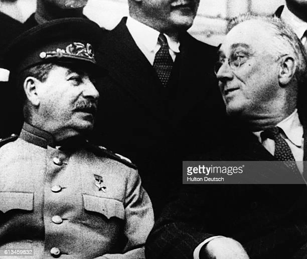 Stalin And Roosevelt At Tehran
