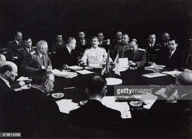 Stalin at the Potsdam Conference July 1945 1945 Found in the Collection of Moscow Photo Museum