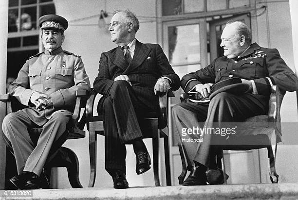 Stalin FDR and Churchill at Tehran Conference
