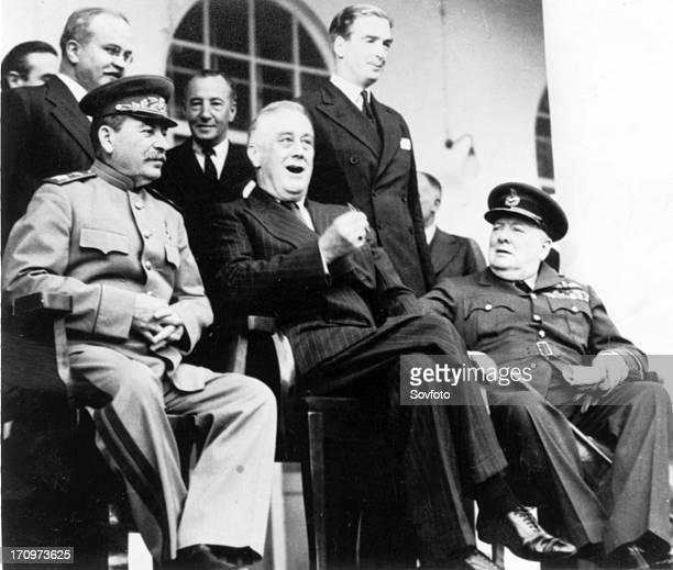 Stalin roosevelt churchill during tehran conference nov dec 1943