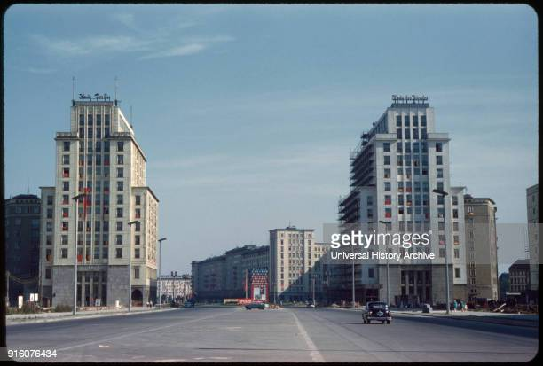 Stalinallee East Germany German Democratic Republic 1961