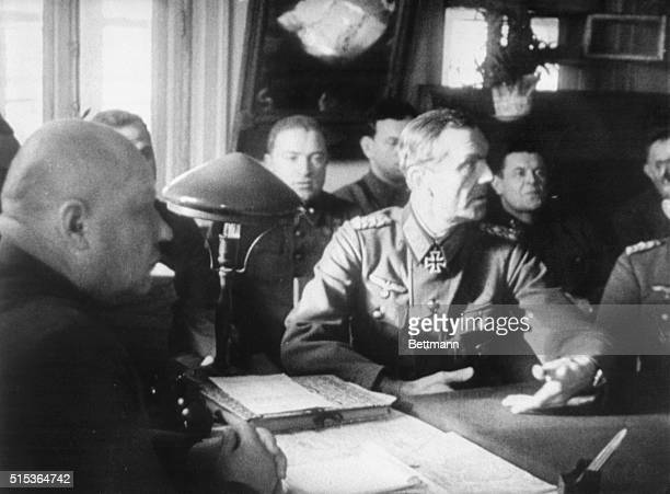 Stalingrad USSRGerman Field Marshal Questioned German Field Marshal General Friedrich Paulus Commander of the entire Nazi Sixth Army in the...