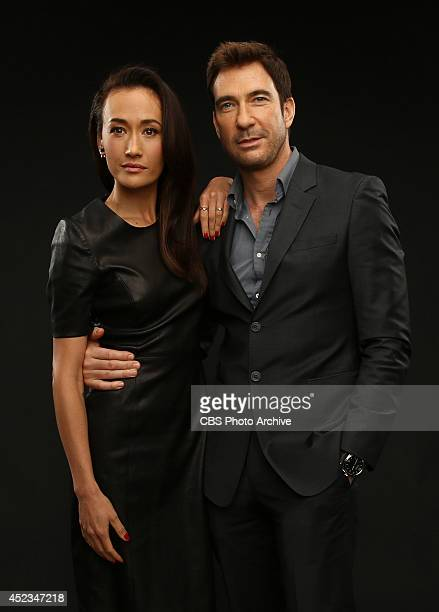 CBS' 'Stalker' actors aggie Q and Dylan McDermott pose for a portrait during CBS' 2014 Summer TCA tour at The Beverly Hilton Hotel on July 17 2014 in...