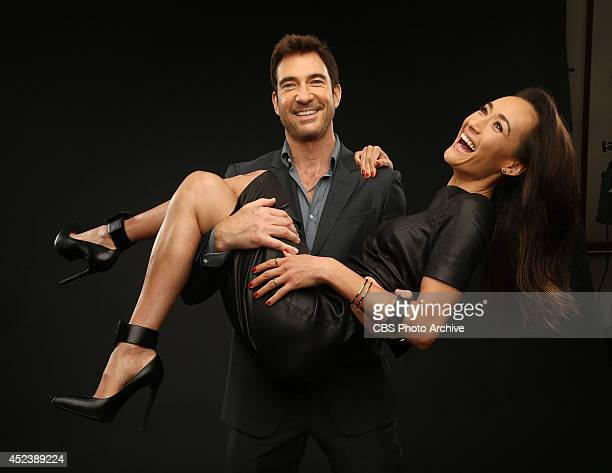 CBS' 'Stalker' actors Dylan McDermott and Maggie Q pose for a portrait during CBS' 2014 Summer TCA tour at The Beverly Hilton Hotel on July 17 2014...