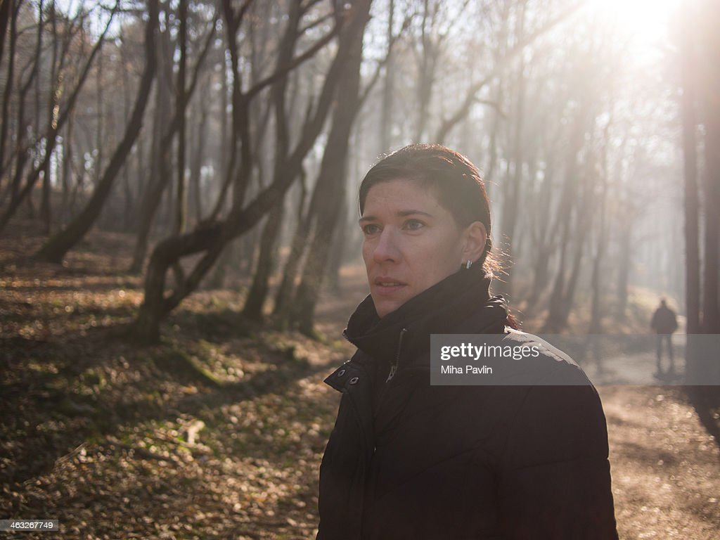 Stalker in the woods : Stock Photo