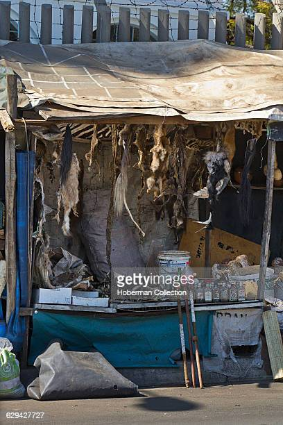 Stall at the Faraday Muti Market a popular outdoor market in downtown Johannesburg for traditional African healing