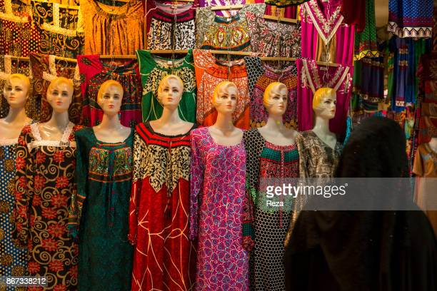A stall of women's clothing in the bazaar of the city of Duhok which is one of the three most important city of the regional governorate of Iraqi...