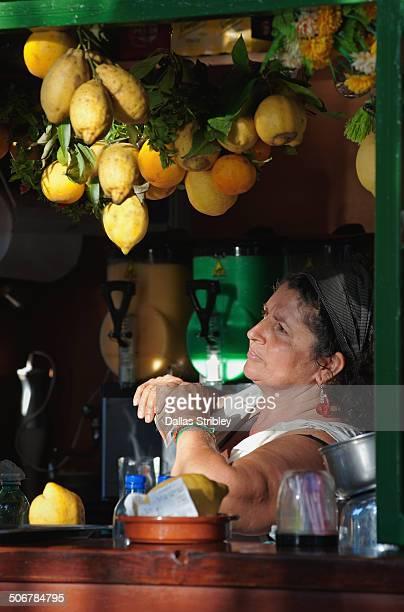 Stall selling lemon granita, in Capri, Italy
