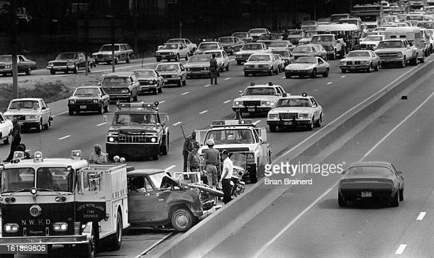 JUL 5 1982 Stall Starts Chain Reaction A fourvehicle accident on northbound Interstate 25 near 58th Avenue blocked traffic for more than an hour...