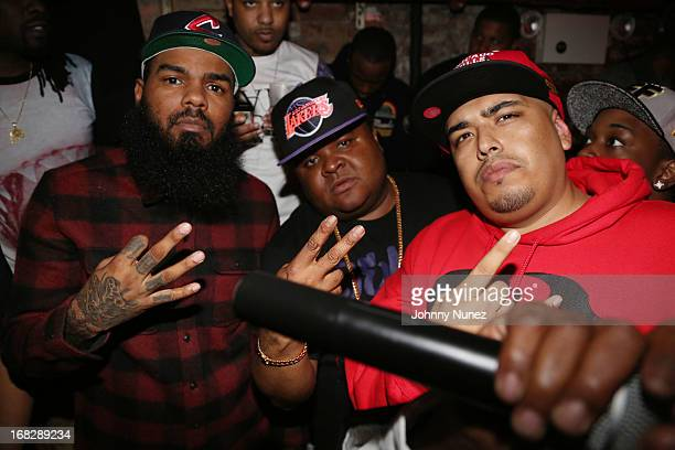 Stalley, Fred The Godson and DJ Juanyto attend the French Montana Album listening party at HiLo on May 7, 2013 in New York City.