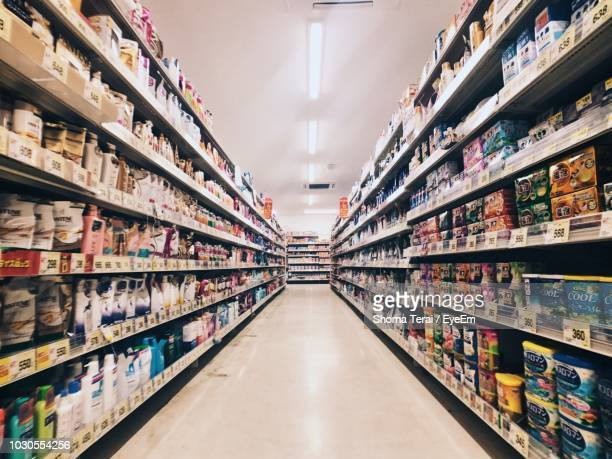 stalls in row at supermarket - terai stock pictures, royalty-free photos & images