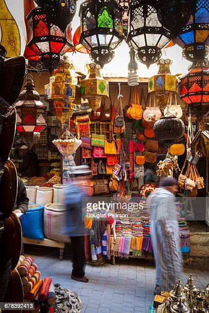 Stalls in the Fes el Bali Medina, Fez, Morocco, North Africa, Africa