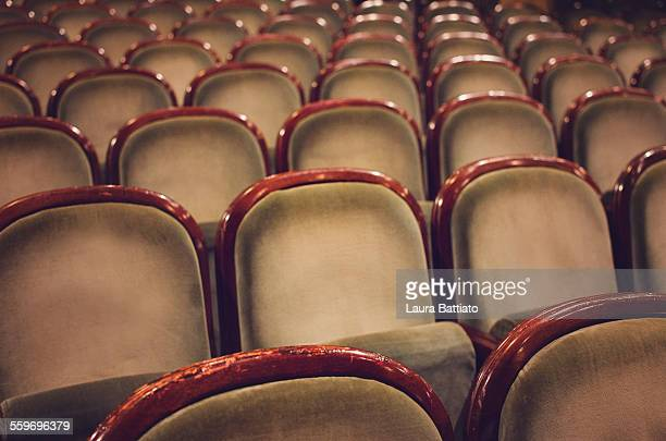 Stalls of an empty theater