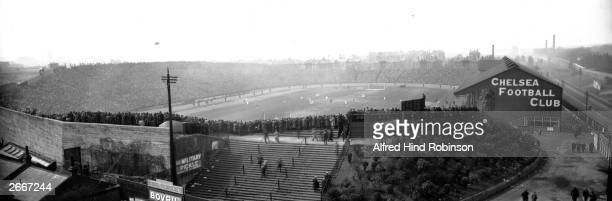 Stamford Bridge Chelsea Football Club's Stadium filled with 50018 spectators watching the 1920 F A Cup Final between Aston Villa and Huddersfield...