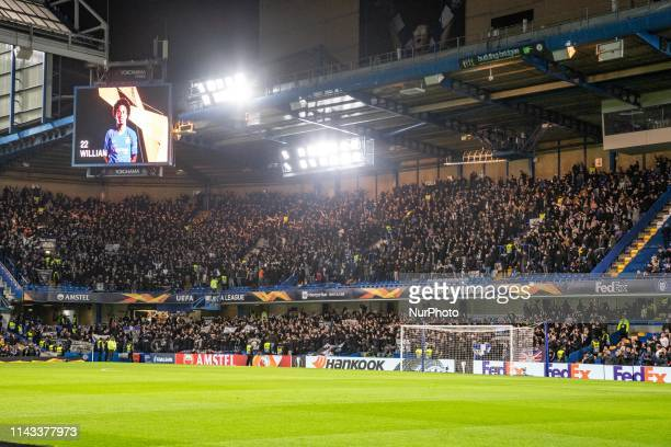 Stamford Bridge Stadium home of Chelsea FC in Fulham South West London England UK with nickname quotThe Bridgequot The stadium was first built in...