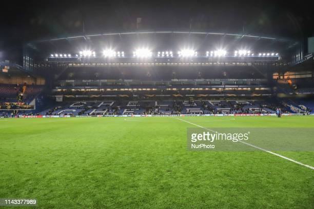 """Stamford Bridge Stadium, home of Chelsea F.C. In Fulham, South West London, England, UK with nickname """"The Bridge"""". The stadium was first..."""