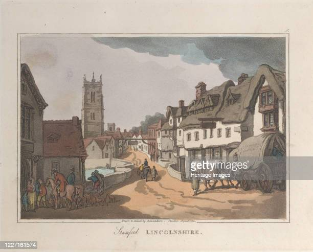 Stamford Lincolnshire from Sketches from Nature 1822 Artist Thomas Rowlandson Joseph Constantine Stadler